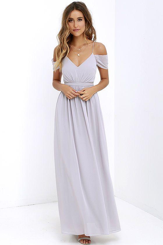 66d233a56a Quite the Charmer Grey Maxi Dress at Lulus.com!