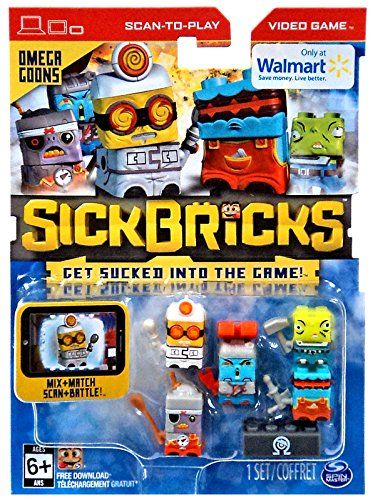 Sick Bricks Spin Docter, Omega Blaster, Magna Minion, Sludge Hammer & Pyro Techie Minifigure 5-Pack |