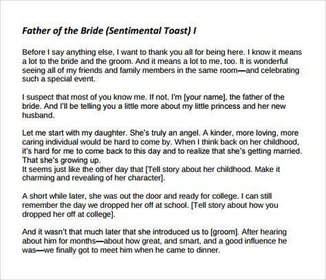 father of the groom speech pdf
