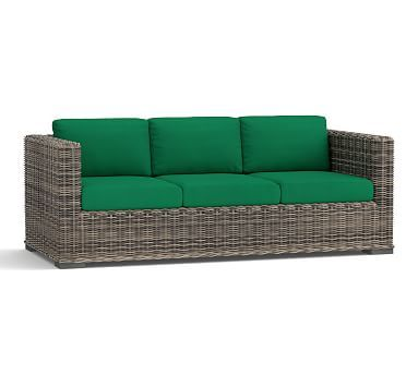 Huntington Sofa Slipcover (Square Arm Sofa)   Sunbrella(R) Emerald