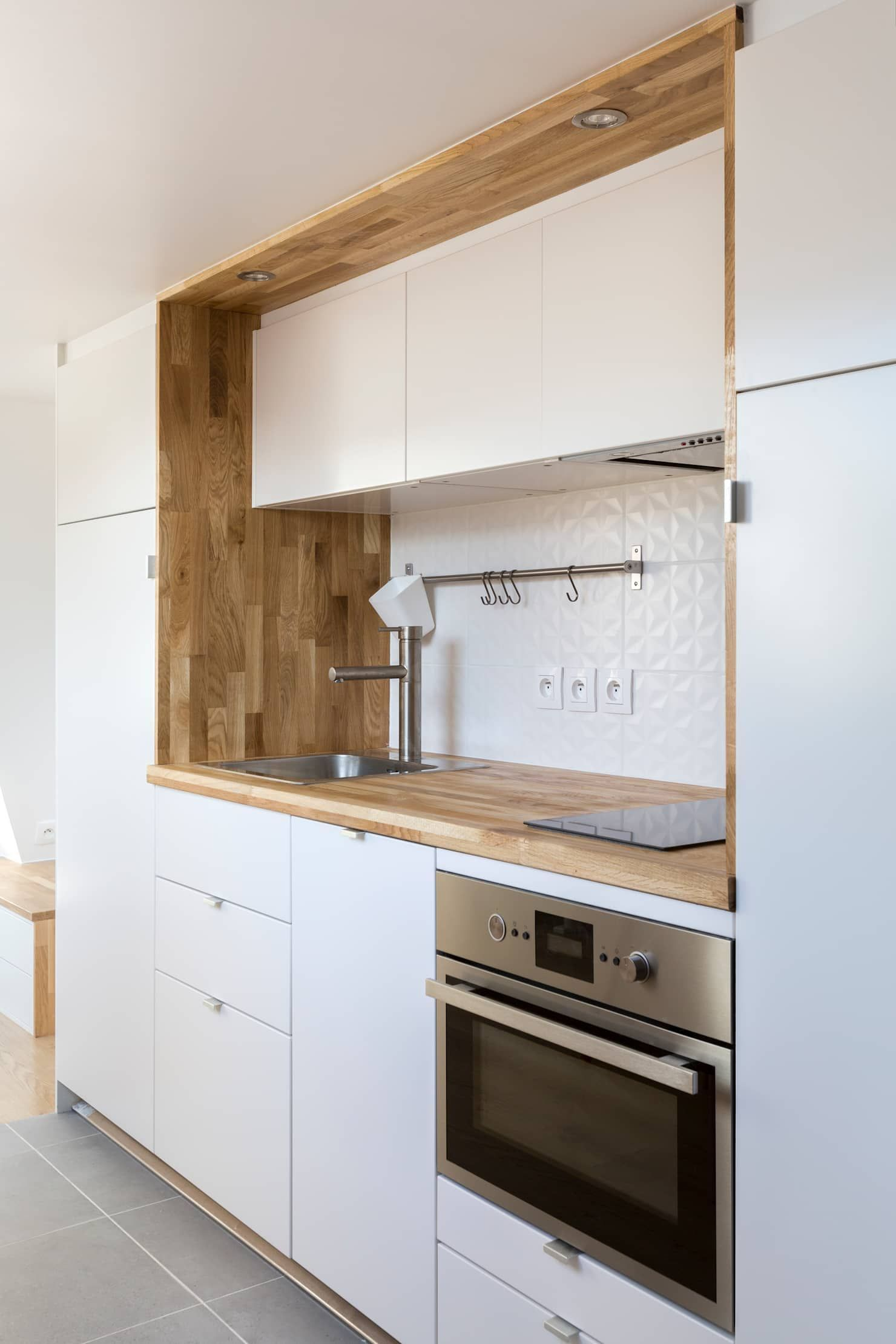 Rénovation d\'un appartement sous les combles: Cuisine de ...