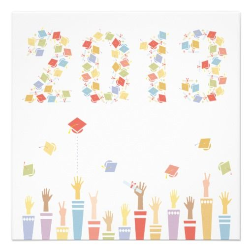 Fun people to send announcements to president and mrs obama graduation 2014 party invitation heres a really fun modern graduation party invitation graphic student arms throw their mortar boards in the air to form m4hsunfo Choice Image