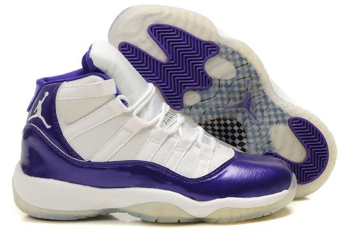 sports shoes a42bf 54b3c Womens Air Jordan 11 Retro Purple White