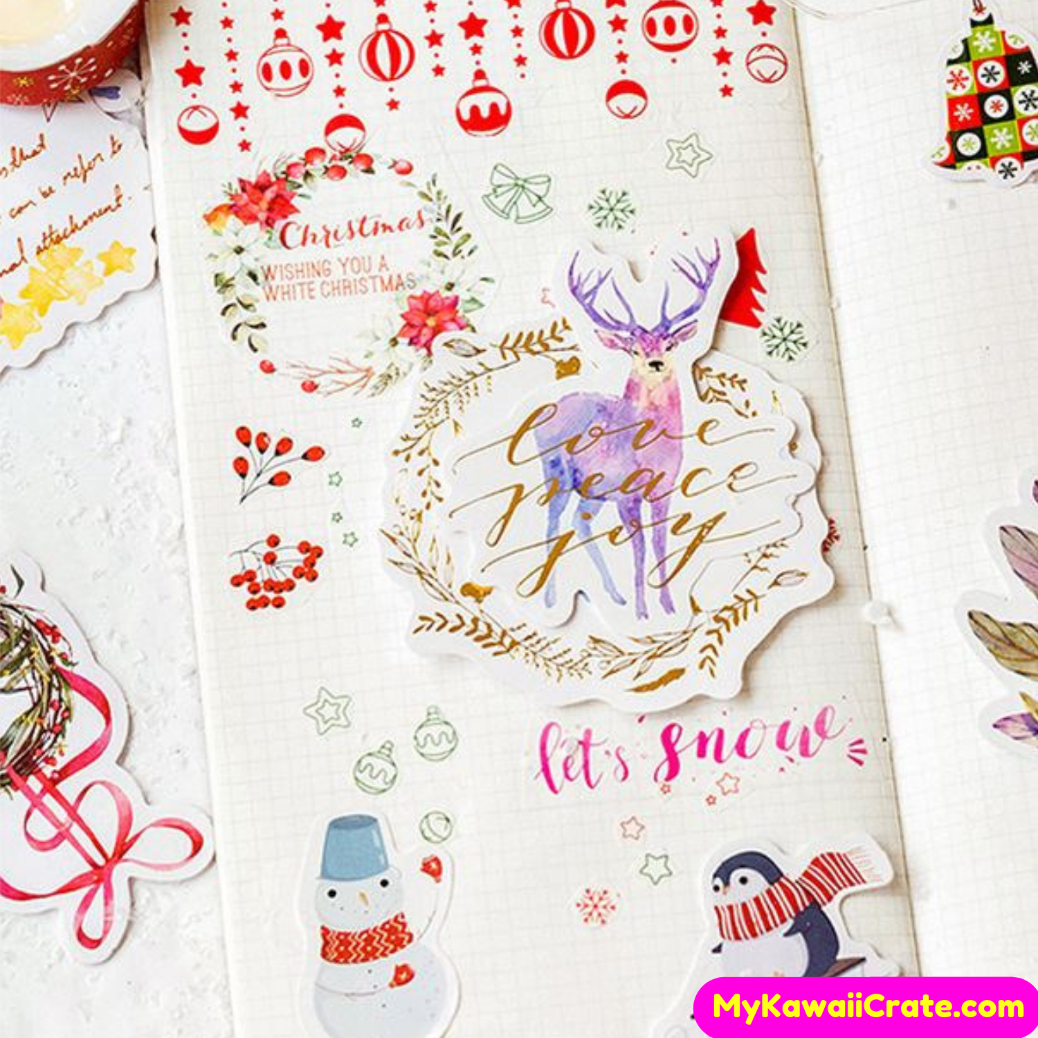 Decorate Your Planner Journal And Paper Crafts With These Fun Christmas Stickers F0 9f 8e 84www