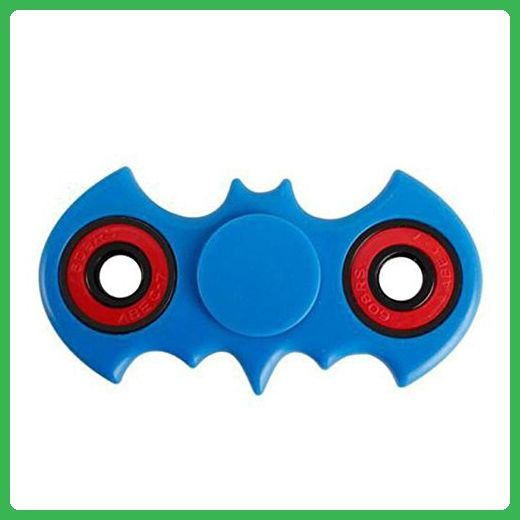 HKYIYO 3D BATMAN Bat Gyro Fidget Spinner Toy with Ultra Speed Deep Groove Bearings- Autism Toys Best Boredom Reducer Stress Toy Hand Spinner Fidget Toy for Kids & Adults (Blue) - Fidget spinner (*Amazon Partner-Link)