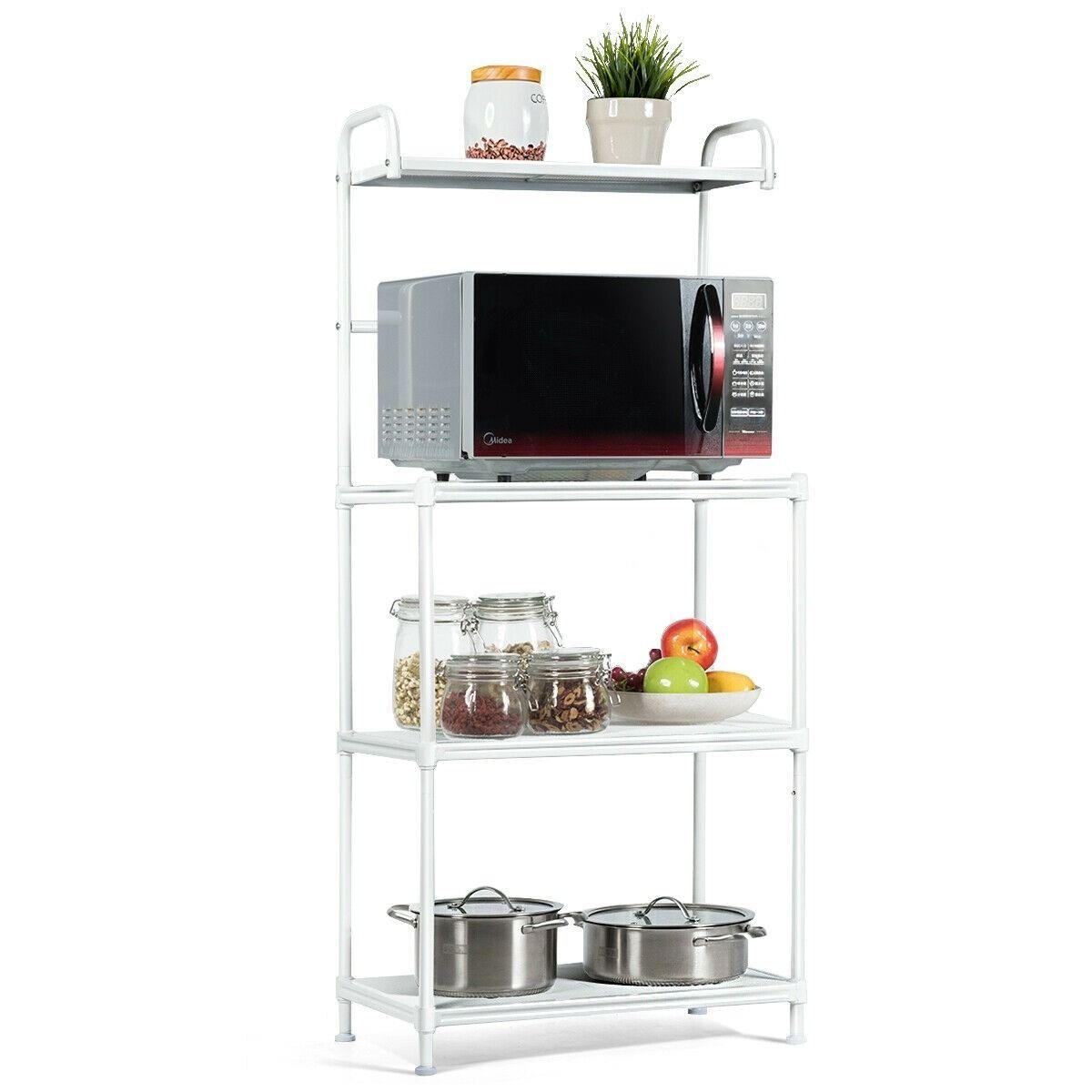 4 Tier Kitchen Storage Baker Microwave Oven Rack Shelves Kitchen