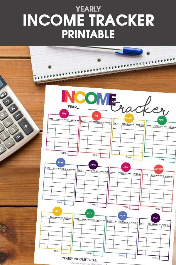printable income tracker