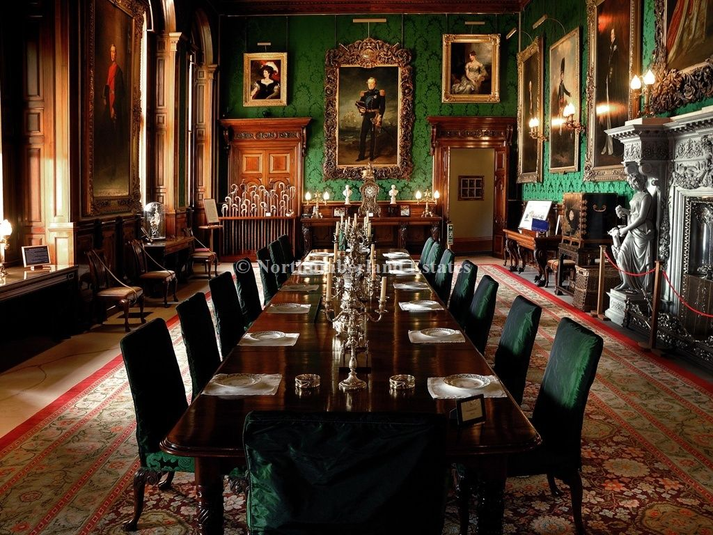 Alnwick Castle  The Dining Room Is Dominatedthe Enormous Delectable Castle Dining Room Inspiration