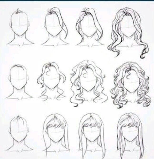 Hair 3 Dani Cartoon Dani Hair Drawings Drawing Hair Tutorial Step By Step Sketches How To Draw Hair