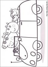 Peppa Pig coloring pages on ColoringBookinfo  Peppa pig