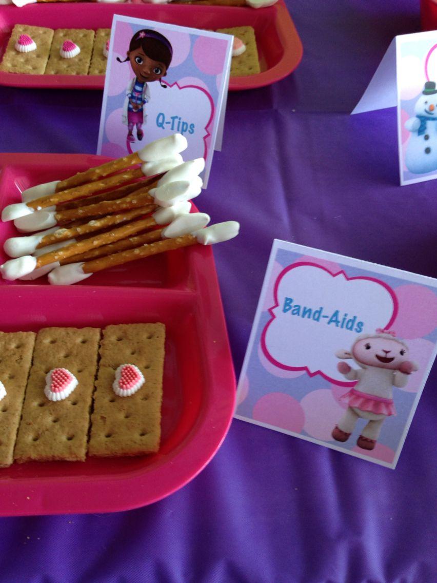 Doc mcstuffins bandages doc mcstuffins party ideas on pinterest doc - Doc Mcstuffins Birthday Party Snacks