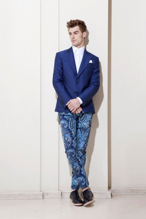 530591b1 ZARA Men Paisley Pants | Dapper Dan | Zara man, Fashion, Blue dress ...