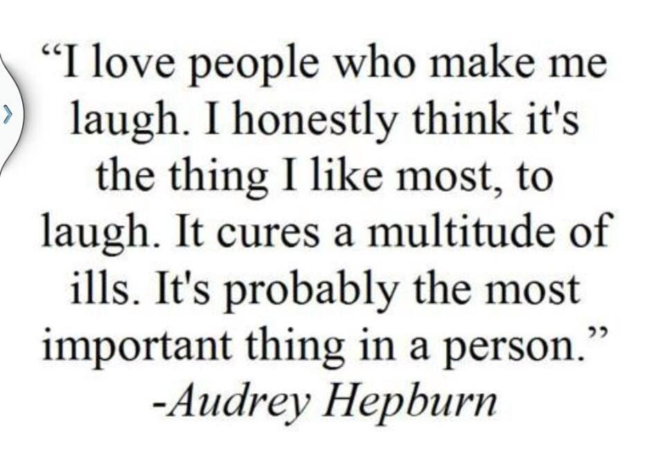 Audrey Hepburn quote on laughter. | words | Pinterest