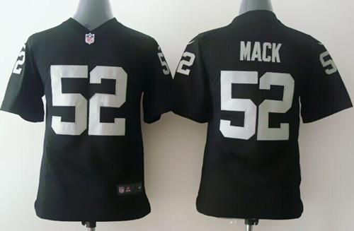 nike raiders 52 khalil mack black team color youth stitched nfl elite jersey and cowboys jason witten 82 jersey