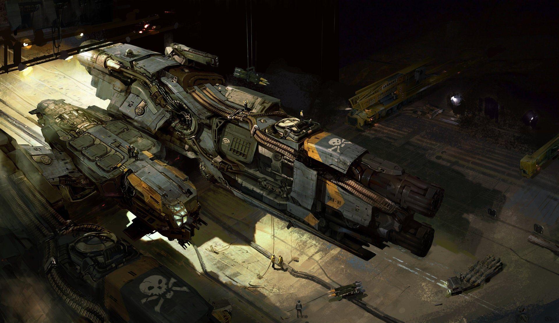 spaceship  - Full HD Wallpaper, Photo
