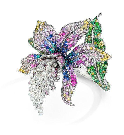 Anna Hu. Enchanted Orchid Bangle