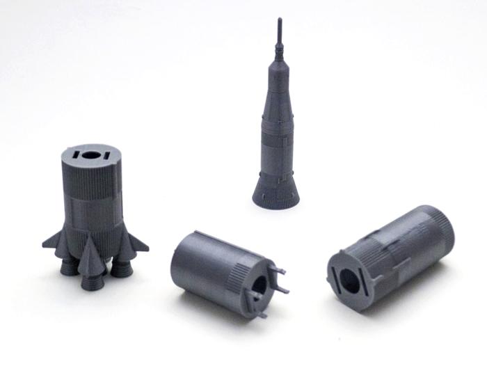 Saturn V Rocket disassembled reddit 3D printing contest