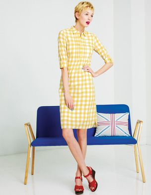 I've spotted this @BodenClothing Gingham Shirt Dress Vintage Yellow Gingham