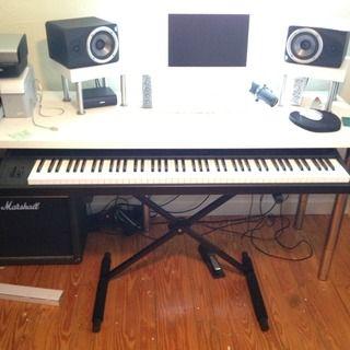Sliding E Piano Keyboard Stand For Daw Piano Desk Home Music Rooms Home Studio Music