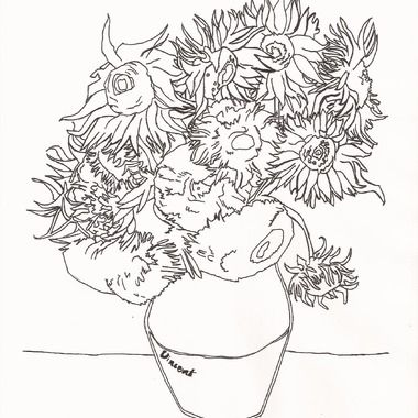Gallery For Gt Van Gogh Self Portrait Coloring Page Sunflower Coloring Pages Sunflower Colors Coloring Pages
