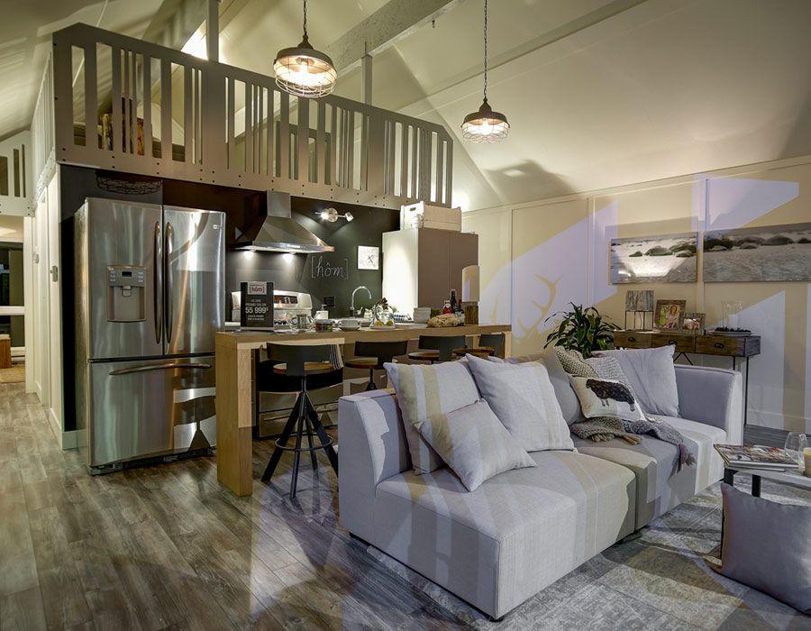 GALERIE DE PHOTOS Habitaflex - Chalet Hôm CASAS DE MADERA - wohnzimmer mit galerie modern