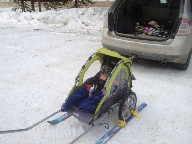 DIY Ski Pulk: Maiden Voyage!! | Winter ideas | Baby sled