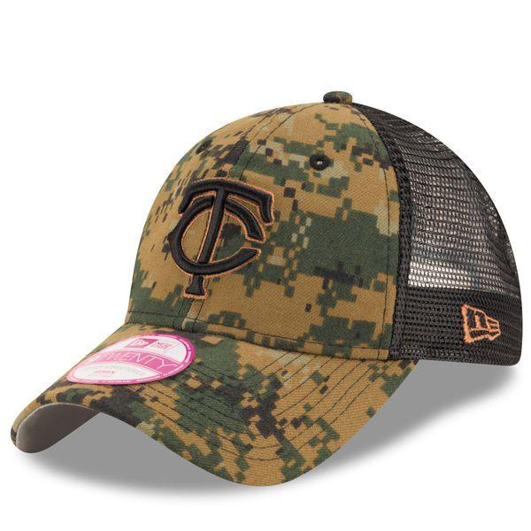uk availability 78b65 83997 ... discount code for minnesota twins new era womens 2016 memorial day 9twenty  adjustable hat digital camo