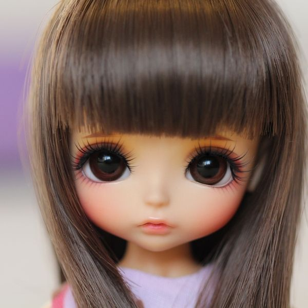 PF] Beige Long Wool Wig/Hair For 1/8 PUKIFEE AE LATI BJD Dollfie ...