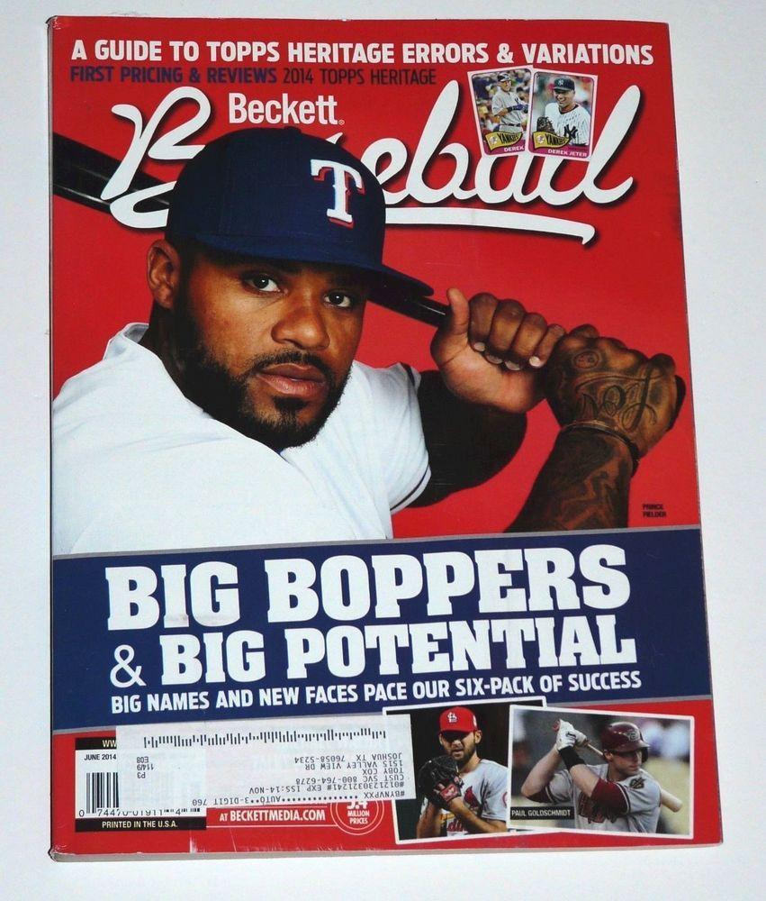 Details About Beckett Baseball Magazine Card Price Guide June 2014