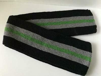 Photo of (eBay Ad) Hers or His Black Stripe Merino Wool Hand Knit Scarf