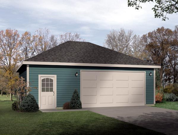 Elevation of Contemporary Garage Plan 49041 Garage Plans