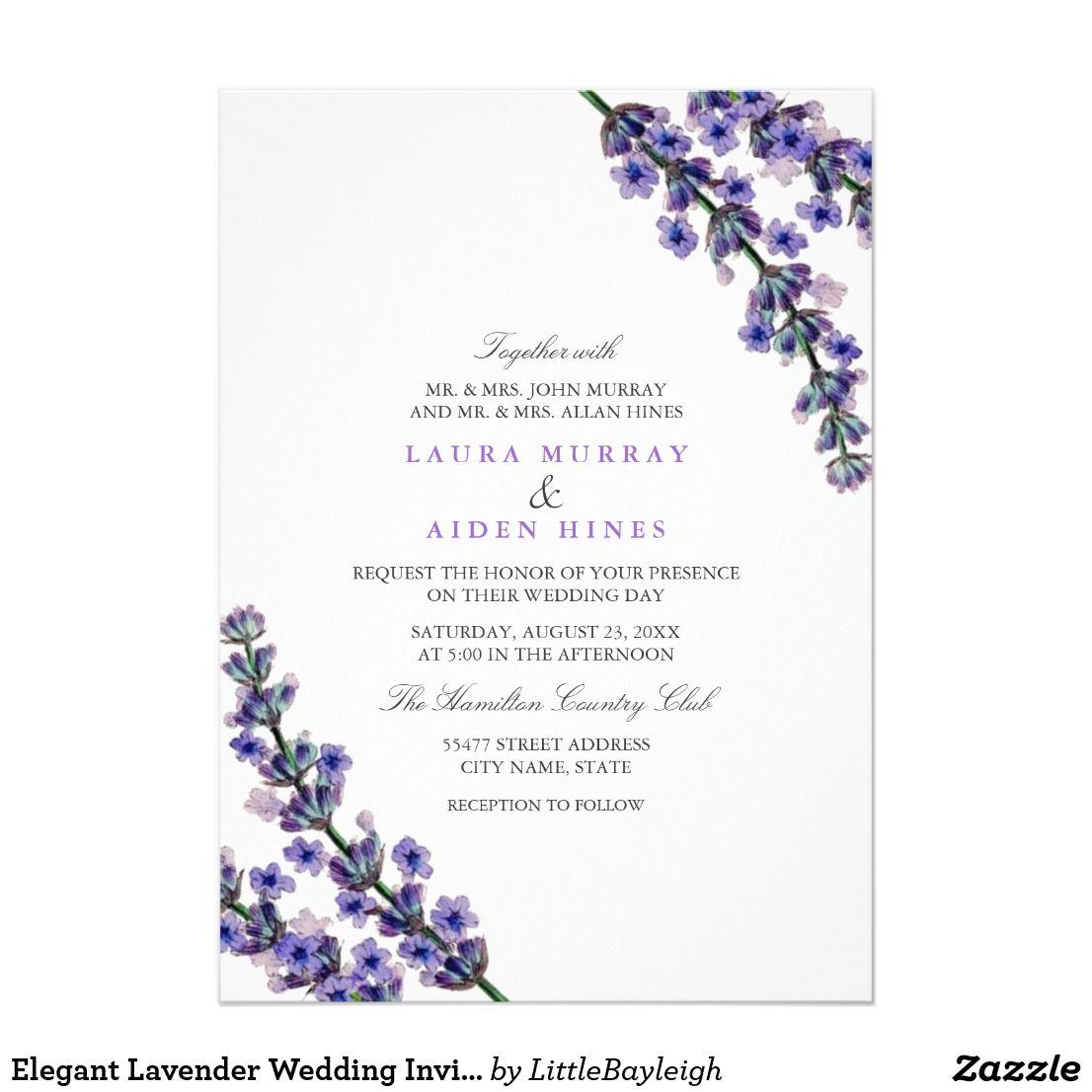 Elegant Lavender Wedding Invitation | Wedding Invitations ...