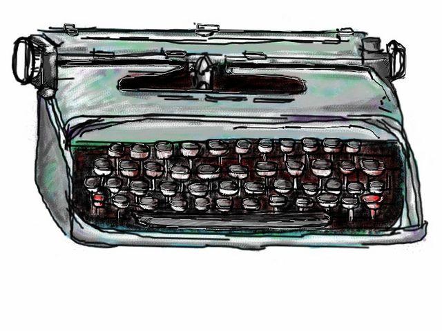 Sunday Morning 1984 - Detail - Dad's typewriter by Juliana Alonso-Olarte, via Flickr