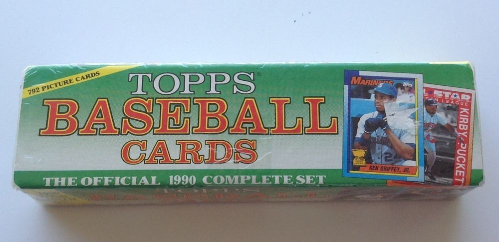 1990 Topps Baseball Complete Set W 790 Cards Factory Sealed
