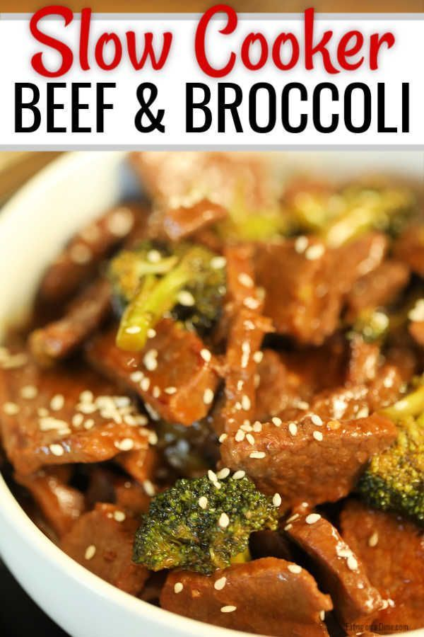 Easy Crock pot Beef and Broccoli #beefandbroccoli