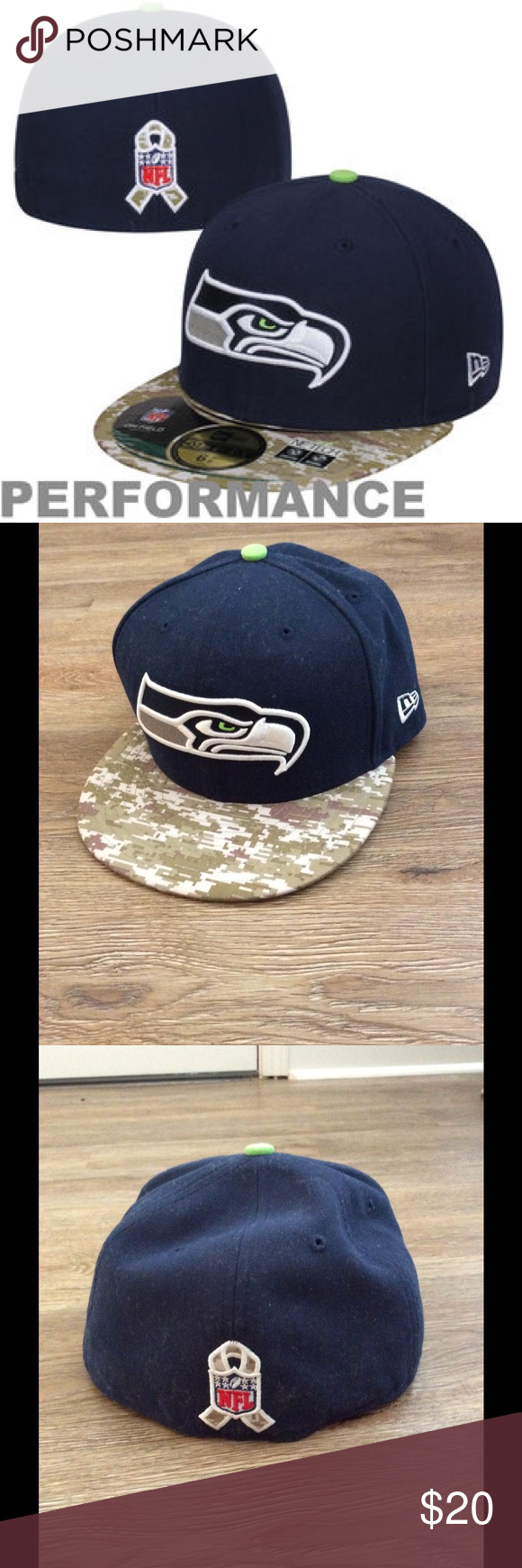 cf399caed fitted Seahawks hat with digital camo bill This was the Veterans Day hat I believe  for