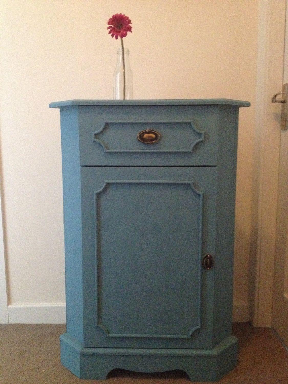 Handpainted Teal Corner Cabinet Corner Cabinet Hand Painted Corner