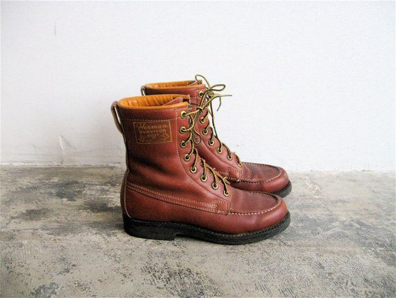 Vintage Herman Survivor Leather Work Boots. Men's 6, Women's 7.5/8 ...