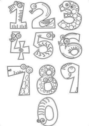 ausmalbilder zahlen ausdrucken gratis 1-10 mit bildern | alphabet, zahlenland, zahlen für kinder