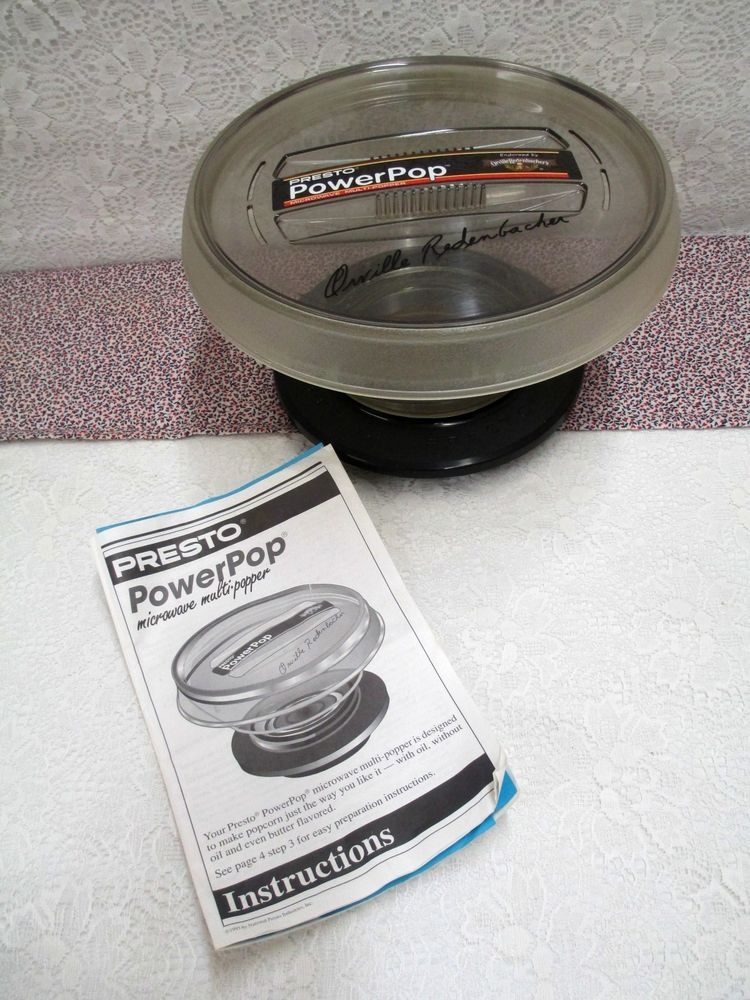Presto Pop Microwave Popcorn Multi Popper Orville Redenbacher S Cups Manual