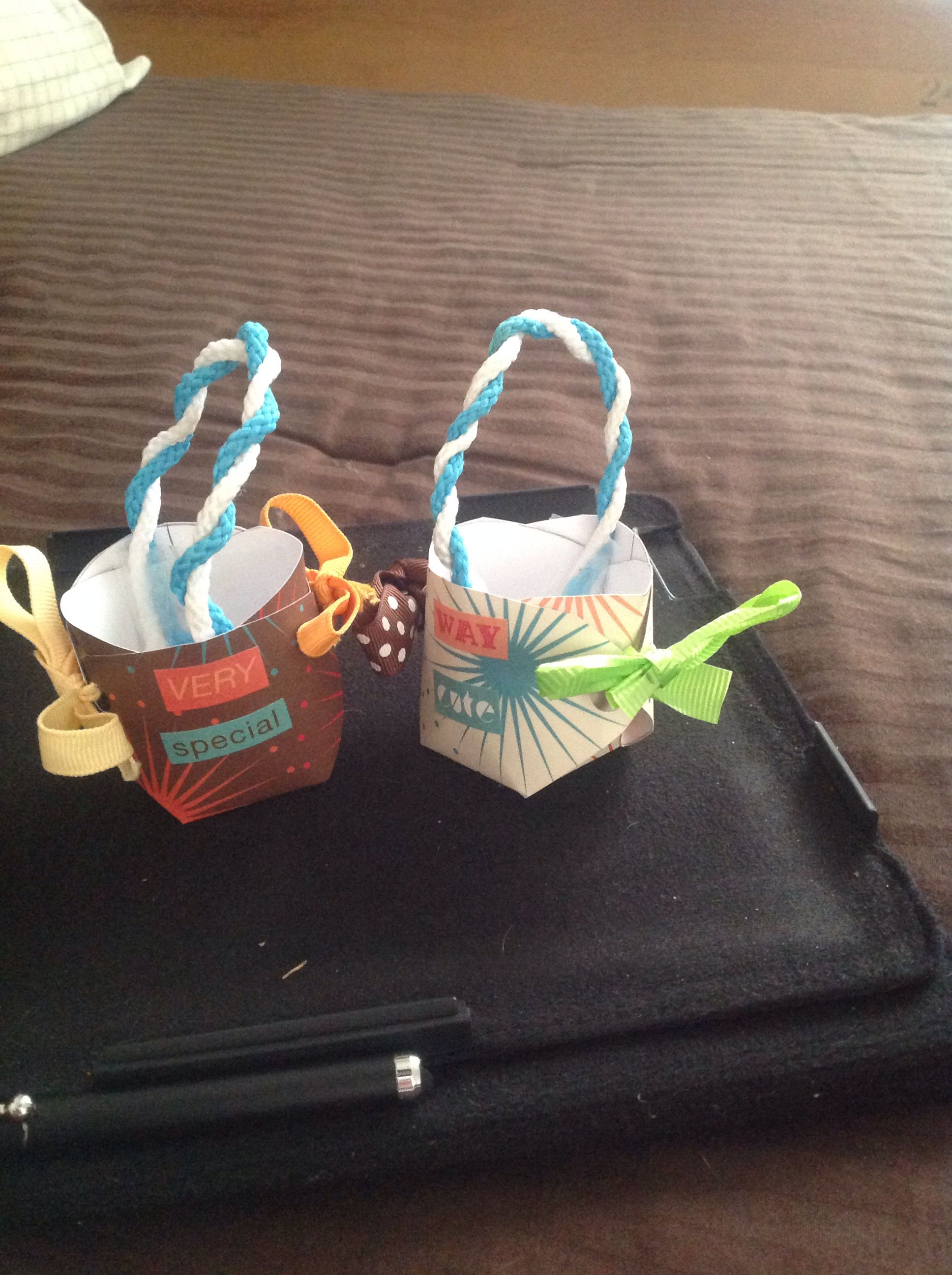DIY American girl doll easter basket.  These are the ones I made for my sisters dolls!