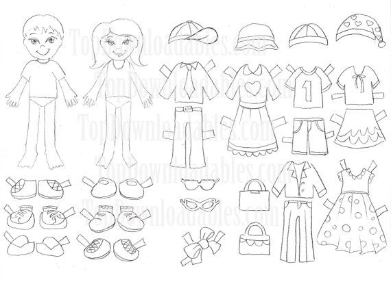 Use our template with six different outfits to have a great activity