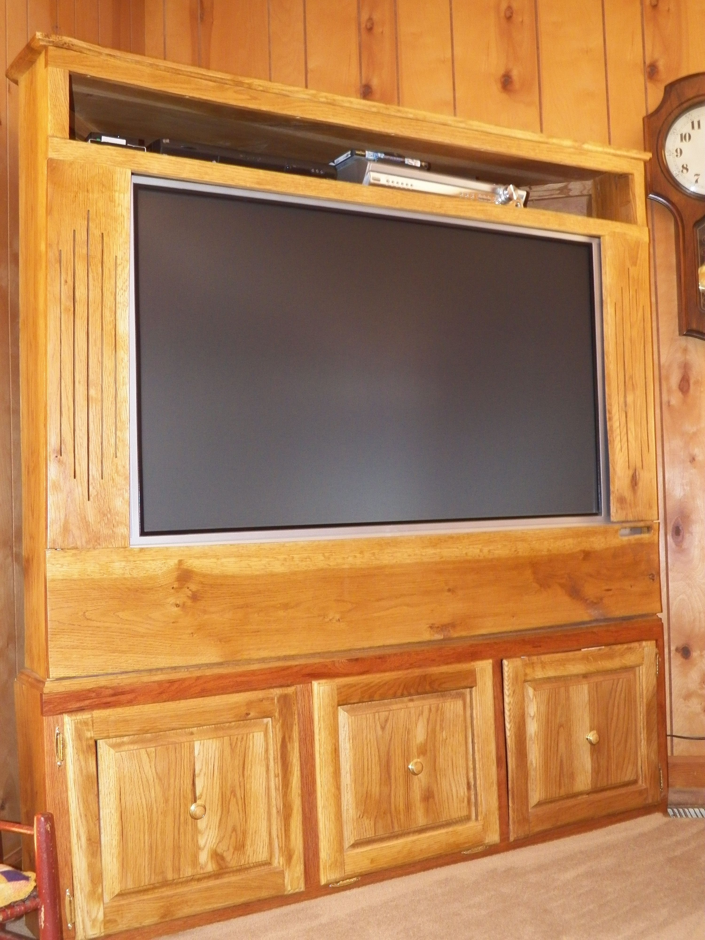 TV Cabinet Oak Corner Design