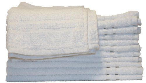 Basic Cotton/Polyester Blend Hand Towels, 12 Pack, White Brown Eyed Girl http://www.amazon.com/dp/B00BQF0MY2/ref=cm_sw_r_pi_dp_tw3Aub1NPTF80