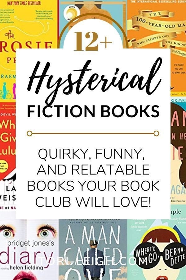 Twelve Hilariously Funny Book Club Books is part of Book club books, Book humor, Best book club books, Fiction books, Feel good books, Good books - Are you looking for funny book club books to liven up your next meet  Find hysterical, quirky, and completely relatable titles in this book list!