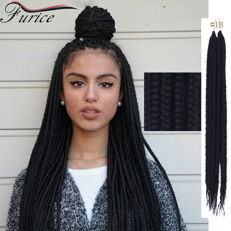 Best Hair To Use For Box Braids Color 1b 18 Inch Extension Curly 3x