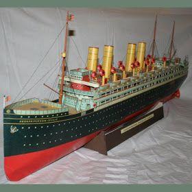vintage ocean liner paper model origami pinterest paper models