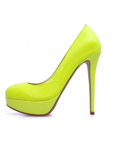 Chaussures à talon aiguille jaunes PDLDnMfY