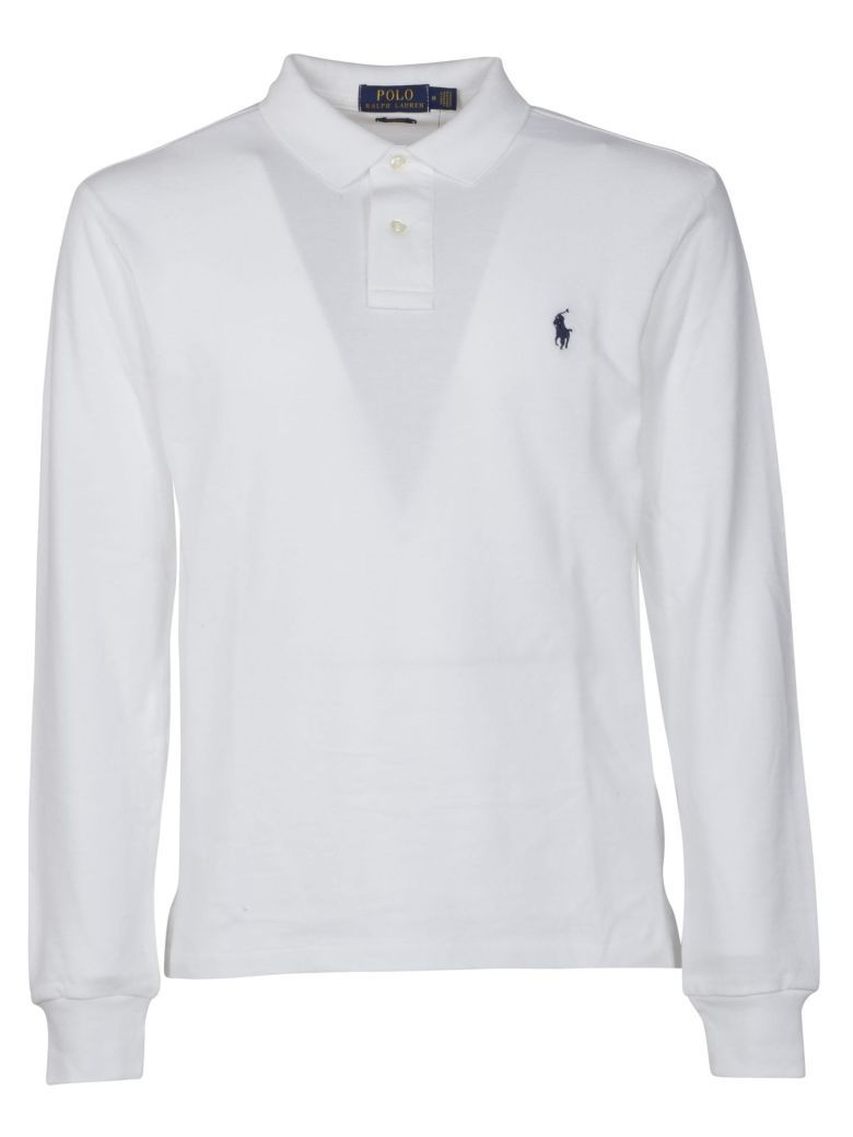 Contrast Logo Polo Shirt White Polo Pinterest Long Sleeved