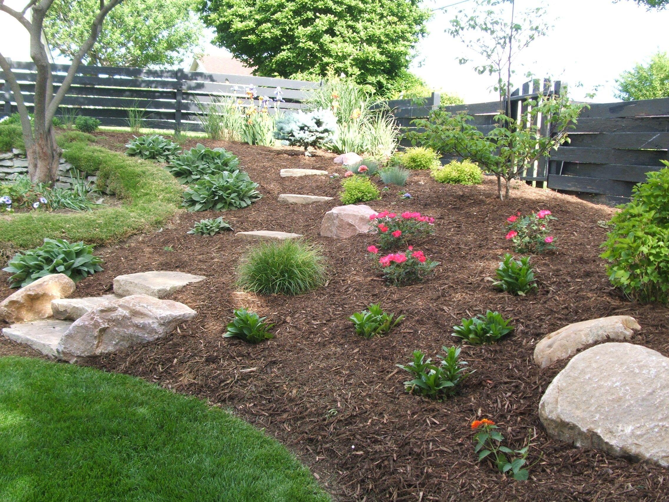 Nice Backyard Landscaping with stone   Backyard, Backyard ...